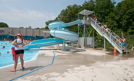 Photo of waterslide at Mountainside Recreation Centre
