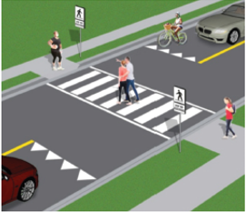 illustration of pedestrian crossover